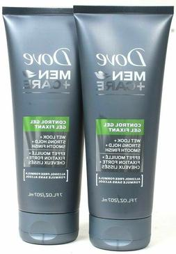 2 Dove Men Care 7 Oz Alcohol Free Wet Look Strong Hold Smoot