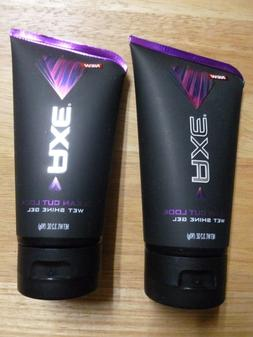 2 New AXE CLEAN CUT LOOK Wet Shine Hair Gel Strong Hold 3.2