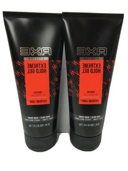 2x Axe Extreme Hold Hair Gel 6 Oz High Hold Shine New