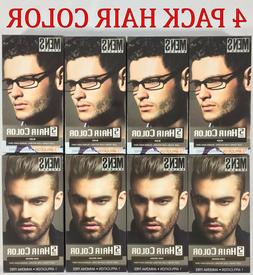 4 Pack Mens Select Hair Color Dye Black or Dark Brown 5 Minu