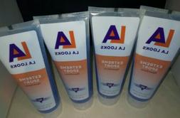 4x LA Looks Hair Gel Extreme SPORT Level 10+ Hold BLUE 8-oz.