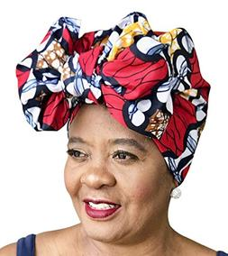 African Head Wrap Tribal Scarf Gele Stylish Headgear Made of
