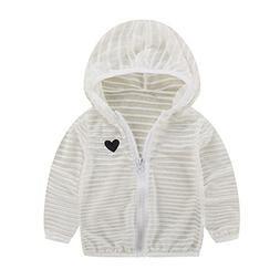 FEITONG Toddler Kids Summer Striped Sunscreen Jackets Baby G