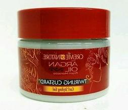 CREME OF NATURE with ARGAN OIL TWIRLING CUSTARD CURL STYLING