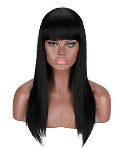 Kalyss Black Wig 24 inches Full Long Straight Hair Wig for W