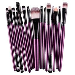 Alixyz 15 pcs Makeup Brush Set Tools Make-up Toiletry Kit Wo