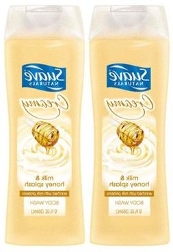 Suave Naturals Creamy Body Wash - Milk & Honey Splash - 12 o