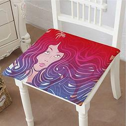 Mikihome Cushion New Little Mermaid Face and Wavy Hair Vibra