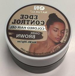 On Natural Dark Brown Colored Hair Gel Edge Control 1oz