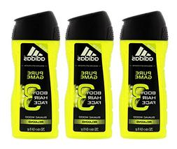 Adidas Pure Game 3-in-1 Relaxing Shower Gel, Shampoo & Face