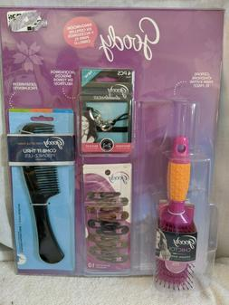 Goody Hair Accessories Multi Pack W/ Hairbrush & Comb NEW