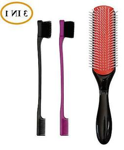9-Row Hair Brush And Edge Brush - USA Fashion Accessories