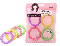 Youxuan 4 Piece Hair Coil Set No-kink Spiral Hair Ring Stron