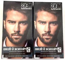 2x Mens Hair Color Dye Dark Brown Select Mustache & Beard Ha