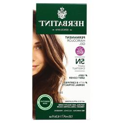 Herbatint Permanent Herbal Haircolour Gel, Light Chestnut, 5