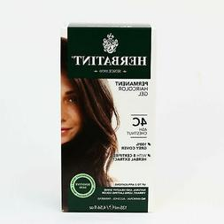 Herbatint Permanent Herbal Haircolor Gel, 4C Ash Chestnut, 4
