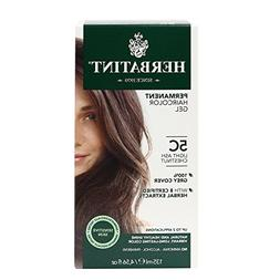 Herbatint, Permanent Haircolor Gel, 5D, Light Golden Chestnu