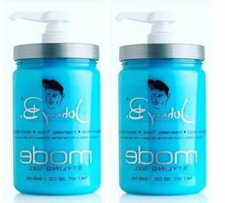 Johnny B Mode Styling Hair Gel 2 x 32oz FREE PUMP INCLUDED