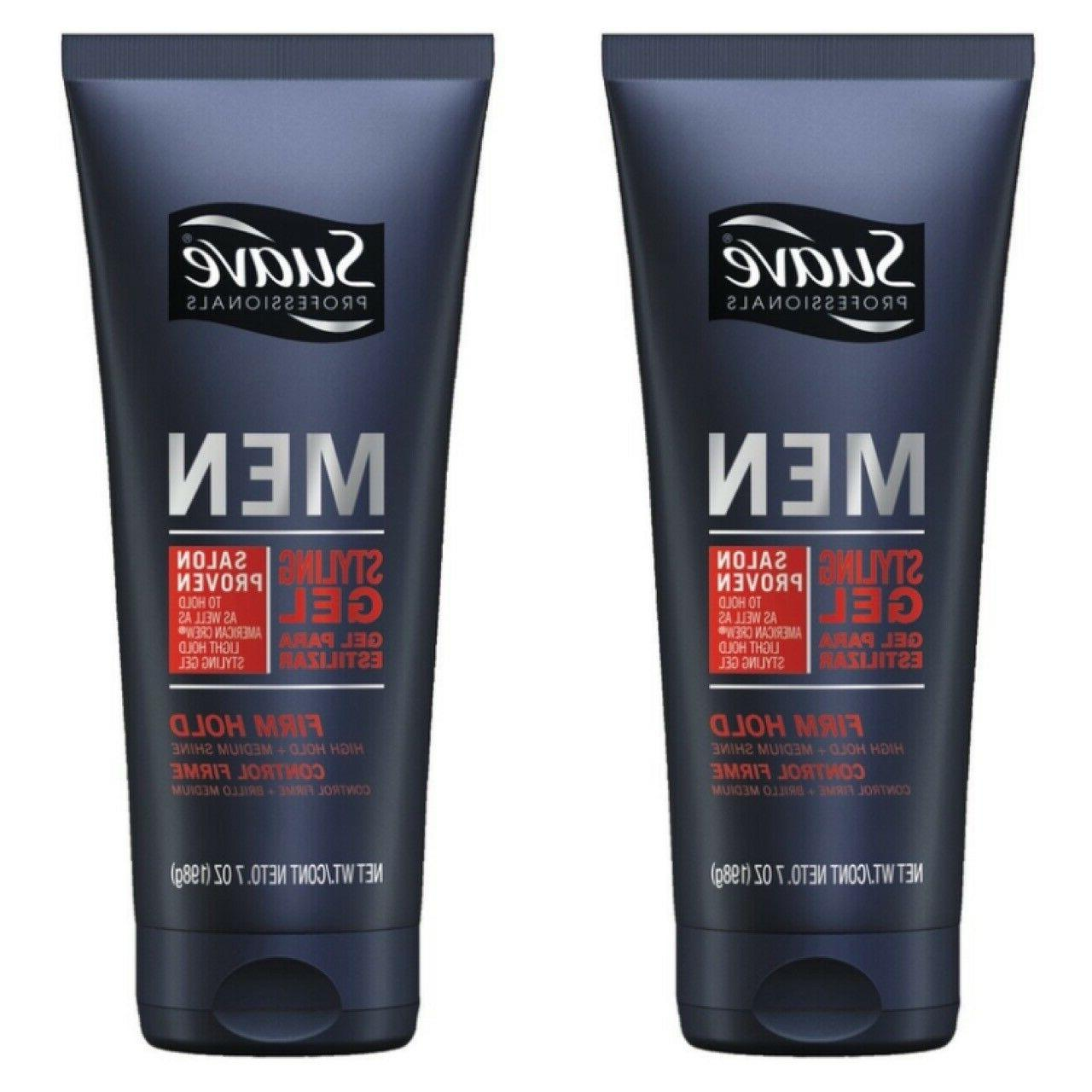 2 pack professionals men styling gel firm