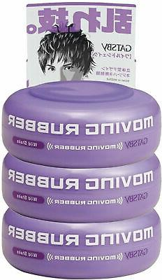 3 pack moving rubber hair styling wax