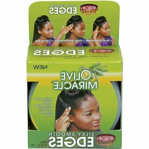 African Pride Olive Miracle Silky Smooth Edges, 3 oz
