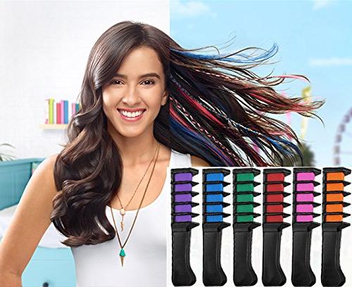 New Hair Temporary Hair Dye Color Brush -MSDADA Chalk Adults Kids Boys & Gift for Party, Cosplayo