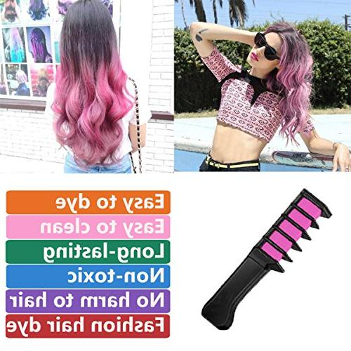 New Temporary Hair Dye Color Brush -MSDADA Chalk Comb Kids & Boys Gift Idea Set for Party,