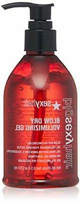 Sexy Hair Blow Dry Voluminizing Gel  8.5 Oz  And Spray And P