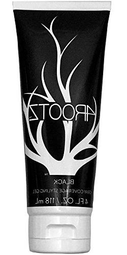 4RootZ Black Colored Hair Gel for Men and Women, Covers Gray