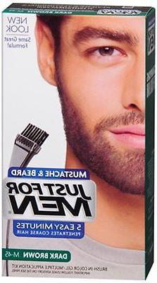 JUST FOR MEN Color Gel Mustache - Beard M-45 Dark Brown 1 Ea