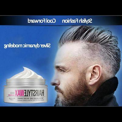 US Grey Color Hair Wax Men Women Mud Party Hair Care Gel Lon