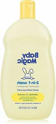 Baby Magic Hair And Body Wash 16.5 Ounce Soft Powder Scent