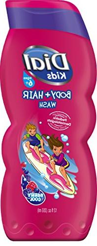 Dial Kids Body + Hair Wash, Berry Cool, 12 Fluid Ounces