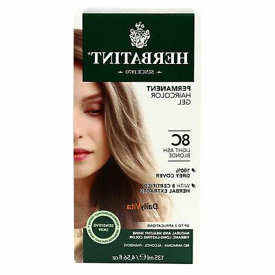 Herbatint Permanent Herbal Haircolor Gel, Light Ash Blonde,