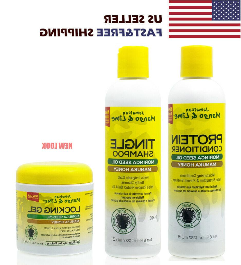 Jamaican Mango & Lime Tingle Shampoo, Protein Conditioner, L