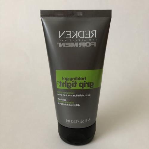 REDKEN FOR MEN Grip Tight Holding Hair Gel 5 oz Medium Contr