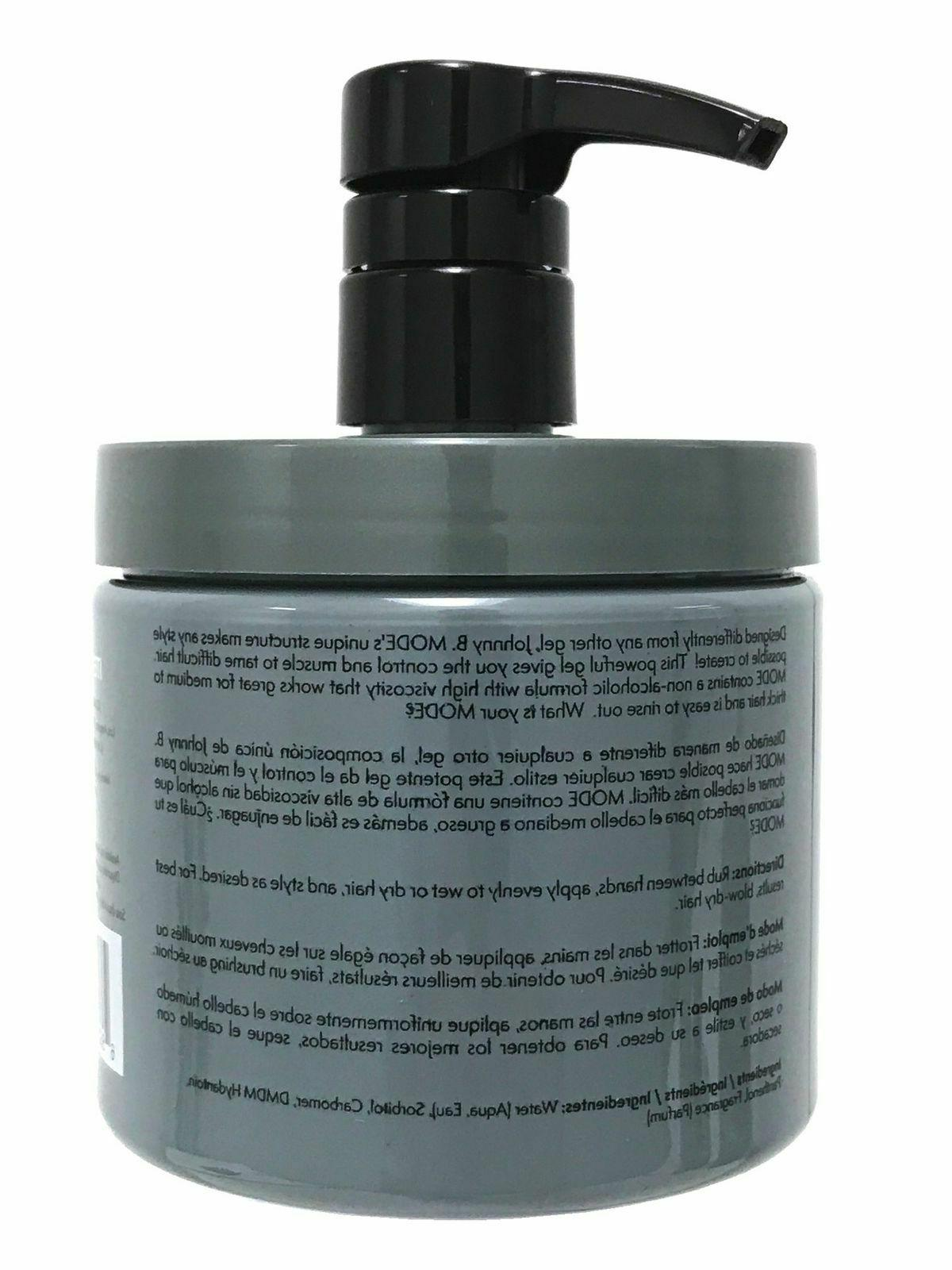 NEW JOHNNY B HAIR STYLING GEL WITH PUMP OZ SHIPPING