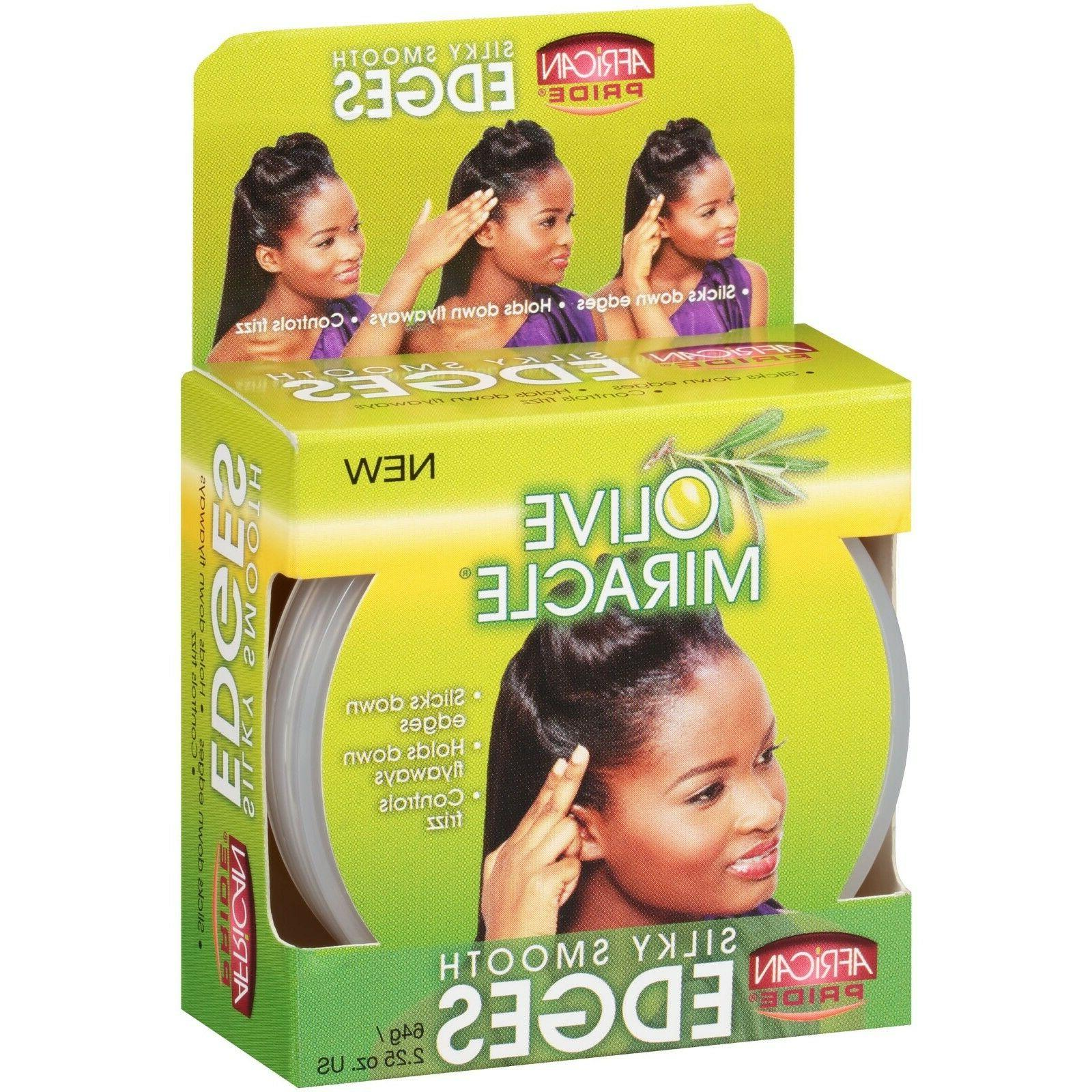 African Silky Smooth Edges Hair Gel 2.25 12pk