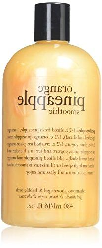 NEW PHILOSOPHY ORANGE PINEAPPLE SMOOTHIE 16 OZ SHAMPOO SHOWE