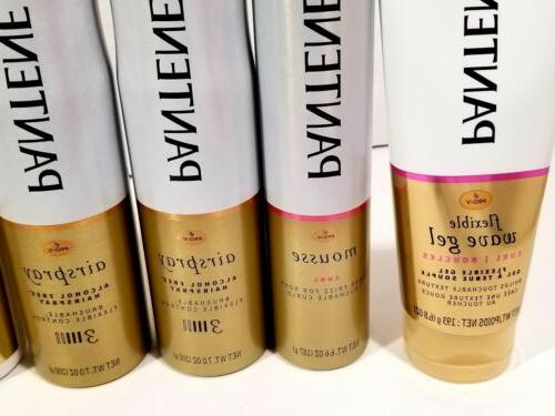 Pantene Pro-V Airspray Hair Spray Alcohol Mousse Wave Style LOT