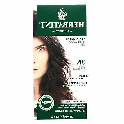 Herbatint Permanent Herbal Haircolour Gel 3N Dark Chestnut -