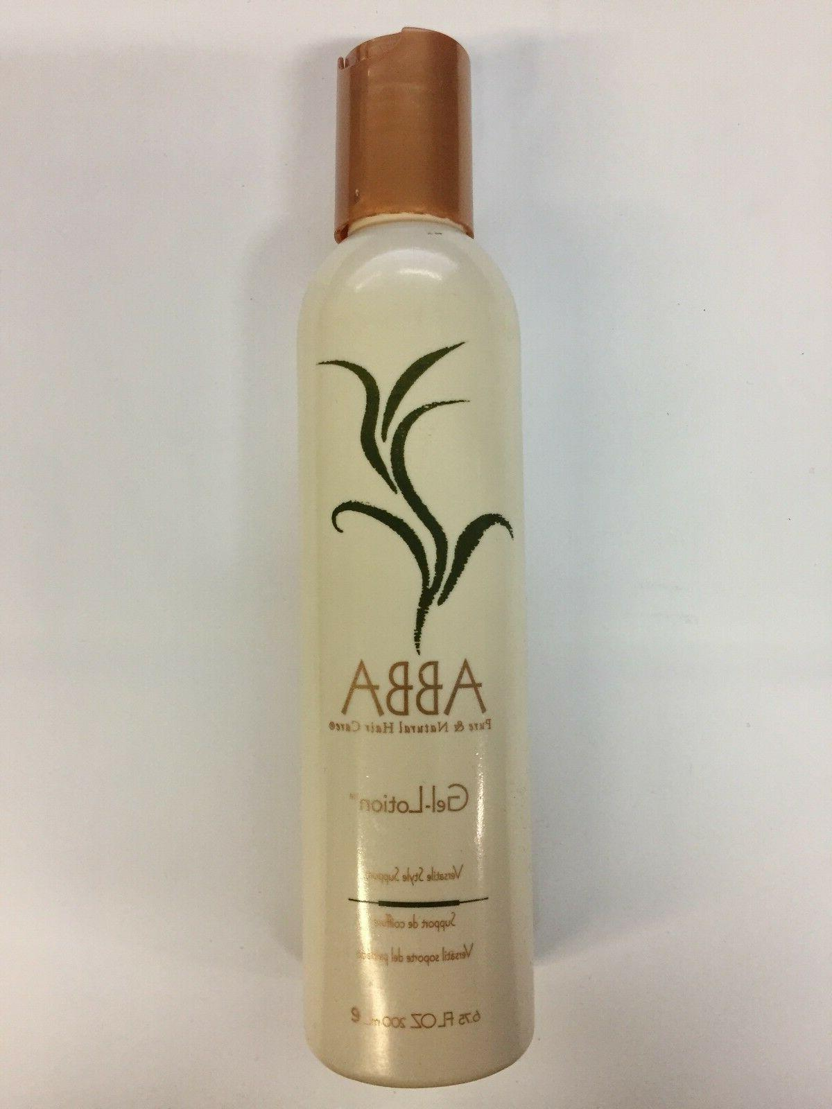 pure and natural hair care gel lotion