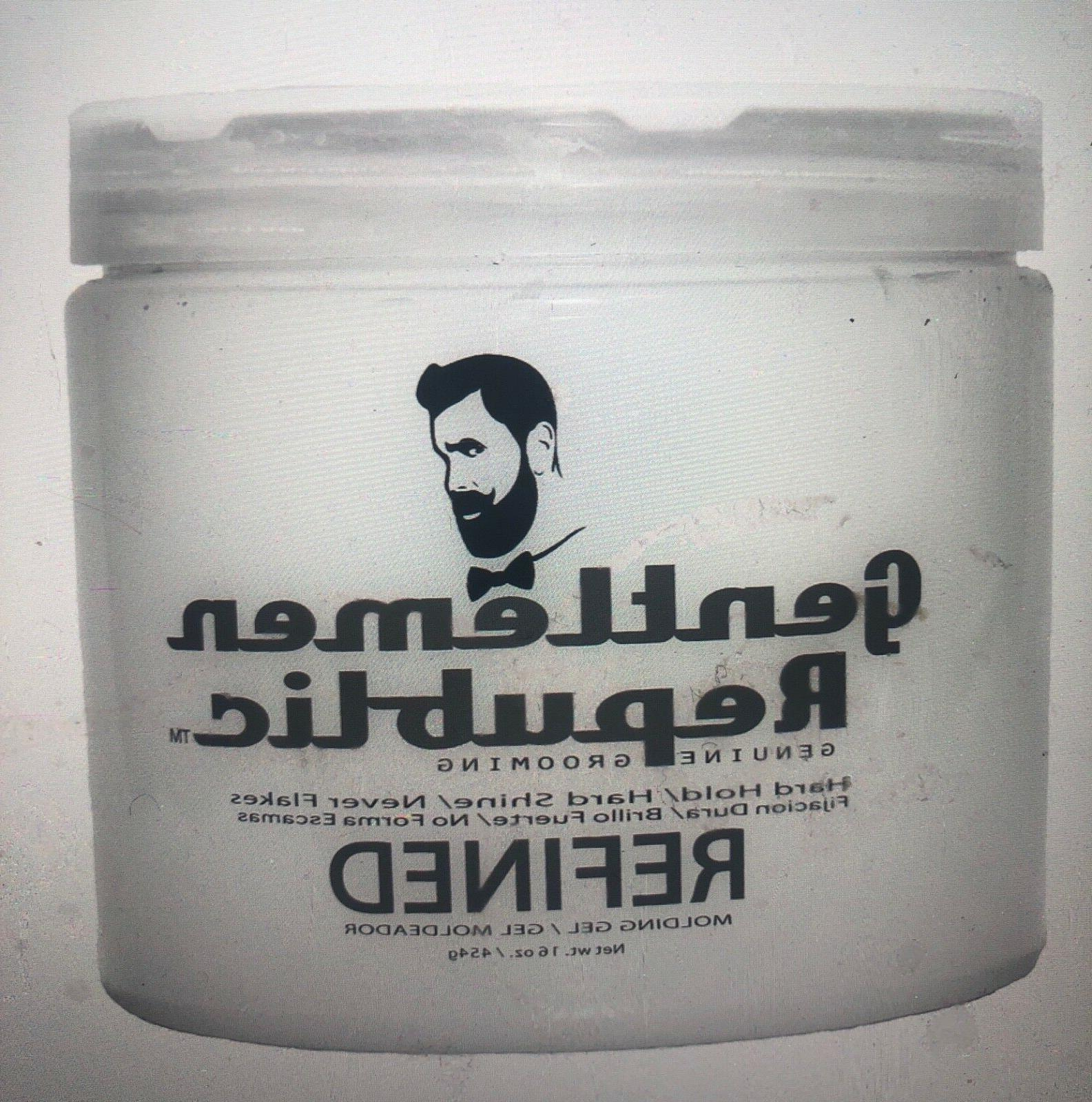 refined molding hair gel hard hold