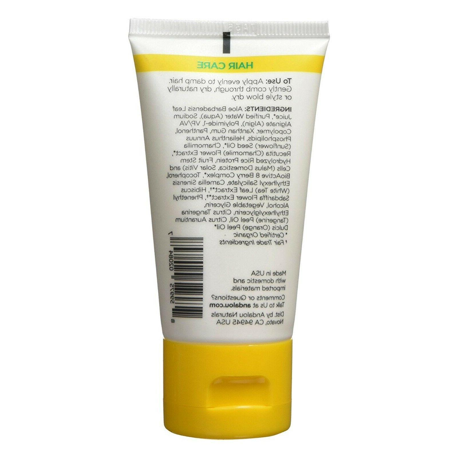 Andalou Naturals Sunflower Citrus Brilliant Styling Gel Hair Types