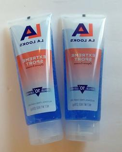 Lot of 2 LA LOOKS EXTREME SPORT LEVEL 10+ HOLD ALCOHOL FREE