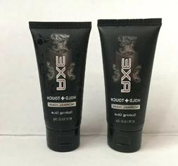 LOT OF 2 Axe Hold+Touch for Normal Hair Spiking Gel 0.65 oz
