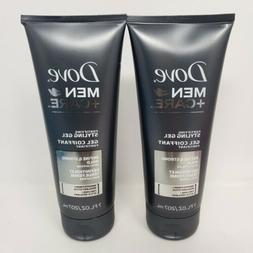 Lot of 2 Dove Men Care Hair Styling Gel Define Strong Hold w
