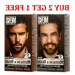 Men's Select Mustache and Beard Dye Black or Dark Brown Hair