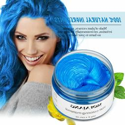 Men/Women Blue Wax Hair model Pomade Gel Mud Long-lasting Ha