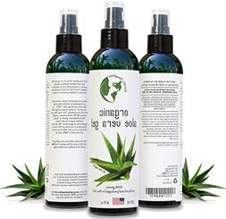 Organic Aloe Vera Gel from 100% Pure and Natural Cold Presse